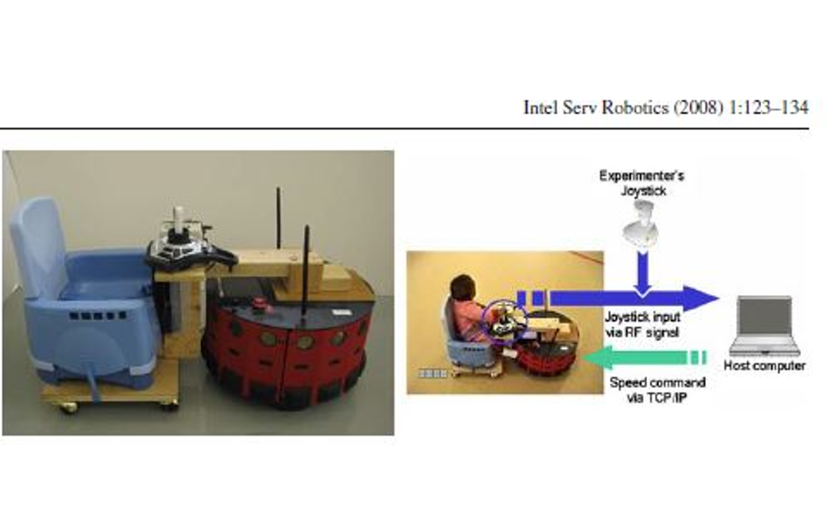 Mobile robot with cart, seat and joystick